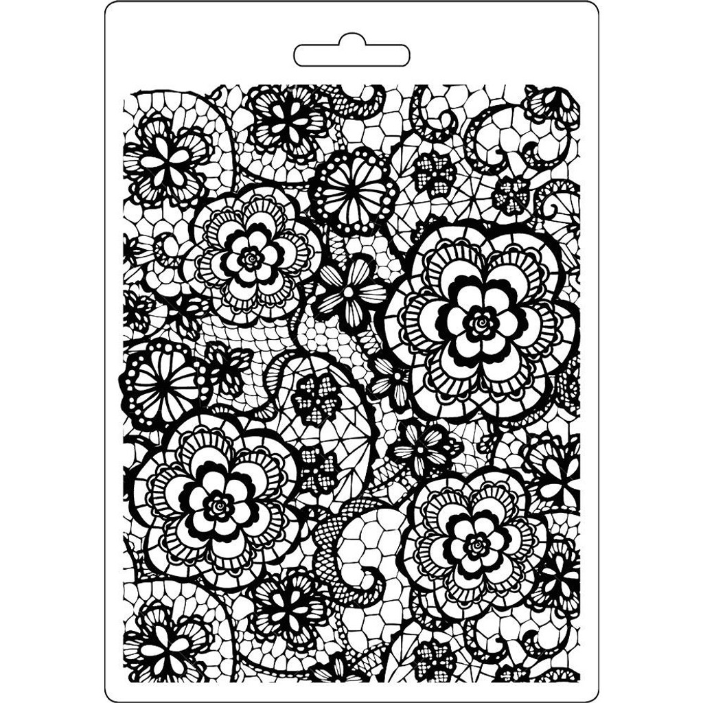 """Stamperia Soft Maxi Mould 5.75""""X8.25"""" - Flowered Texture (K3PTA547)"""