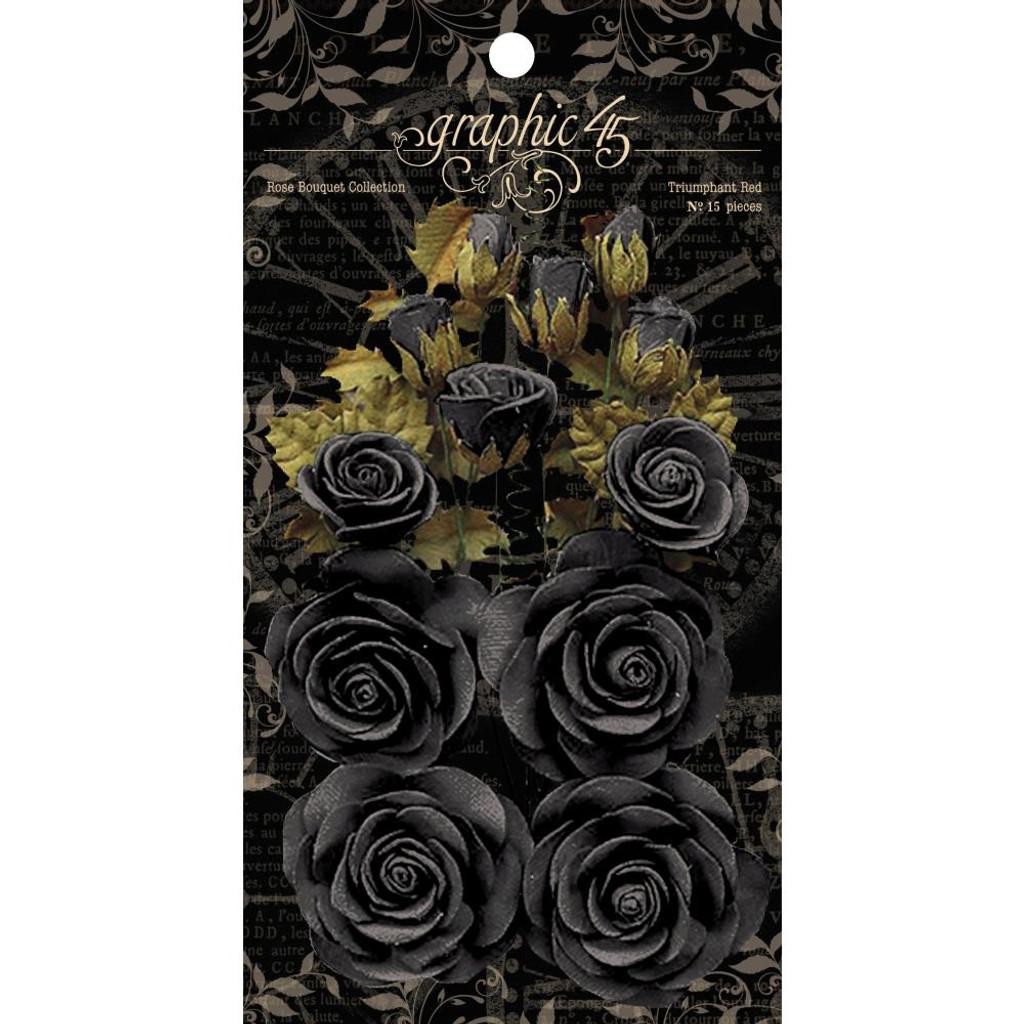 Graphic 45 Staples Rose Bouquet Collection 15/Pkg - Photogenic Black (4501979)