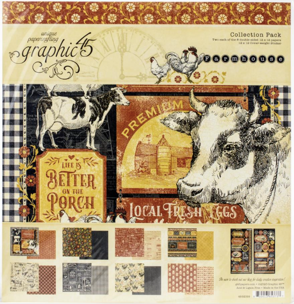 Graphic 45 - Collection Pack 12x12 - Farmhouse (G4502059)
