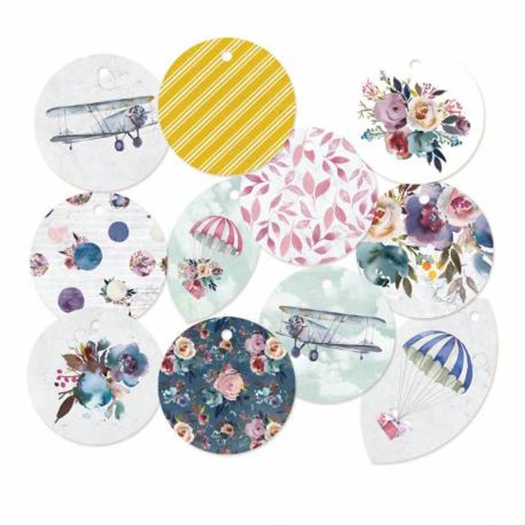 P13 - Decorative Embellishments 11 pc - Tag Set - When We First Met (P13-WWFM-21)