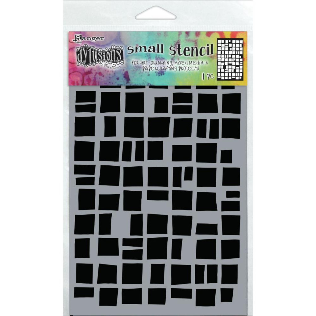 """Dyan Reaveley Dylusions Small Stencil 5""""X8"""" - Betsy's Block (DYS 71426)"""
