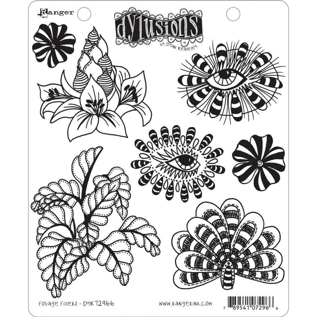 "Dyan Reaveley Dylusions Cling Stamp 8.5""X7"" - Foliage Fillers (DYR 72966)"