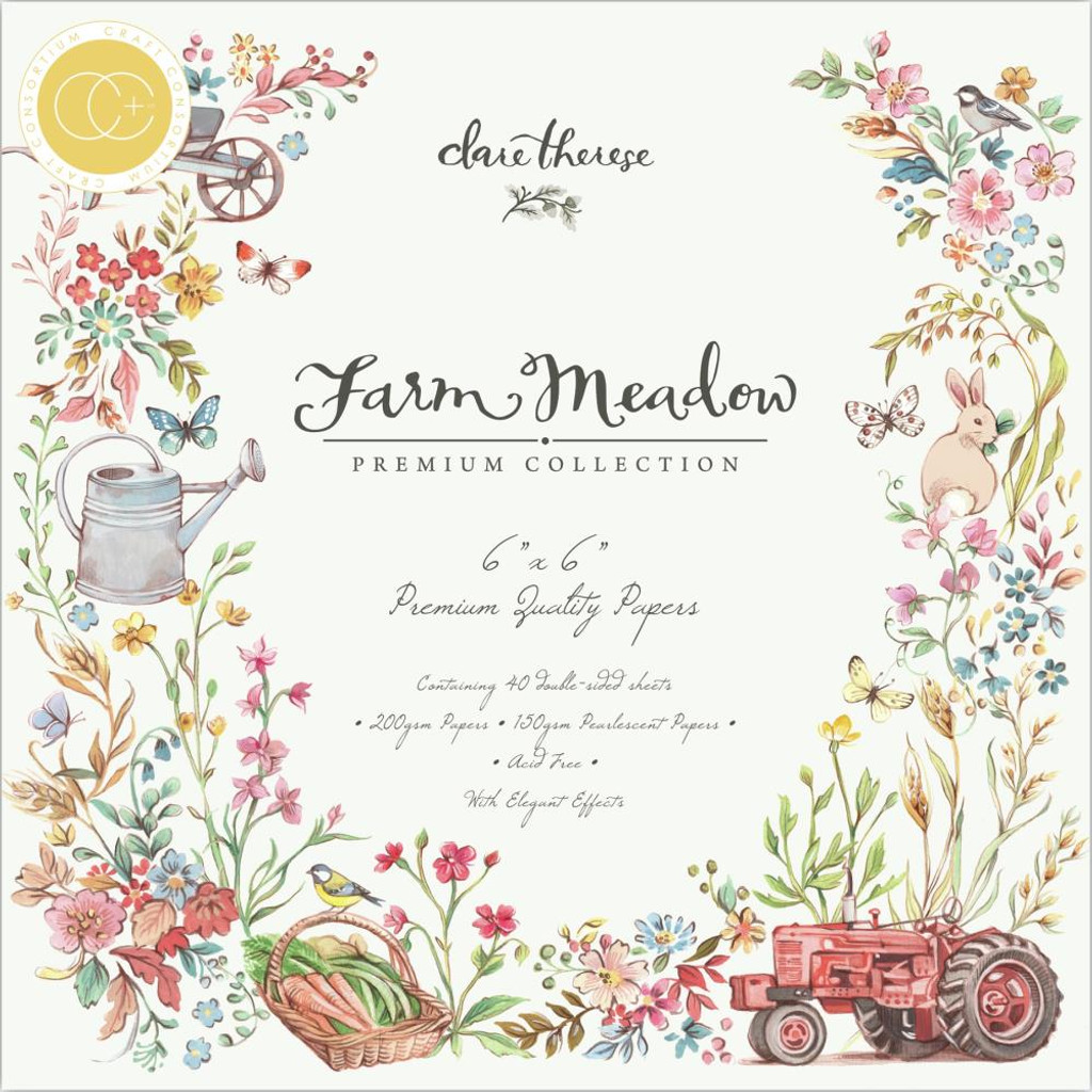 Craft Consortium - Double Sided Paper Pack 6x6 -Farm Meadow (PPAD015B)