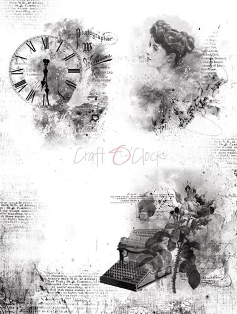 Craft O Clock - Vellum Decorative Tracing Papers Set 9/pkg - Mixed Media (CC-MM-ZV-01)
