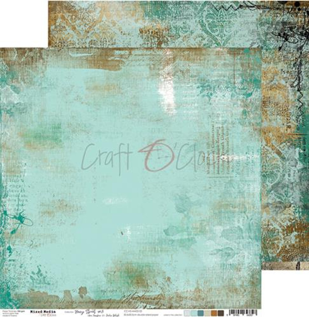 Craft O Clock - 12x12 Paper Collection 6/Pkg - Hazy Street (CC-ZD-HS-MM02)