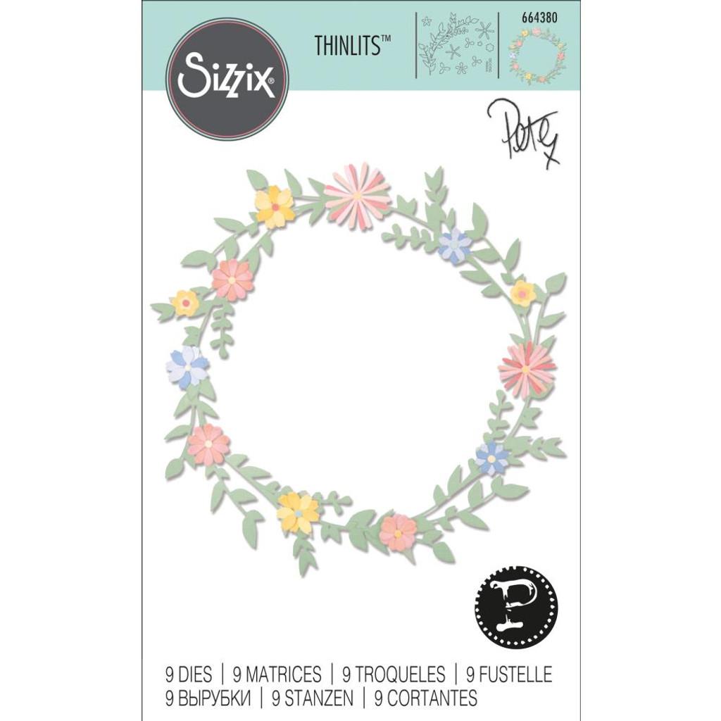 Sizzix - Pete Hughes - Thinlits Die Set 9/Pkg - Spring Foliage (664380)