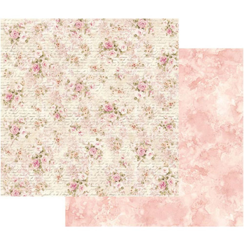 Stamperia - Double sided 12x12 Paper - Shabby Roses & Writing (SBB436)