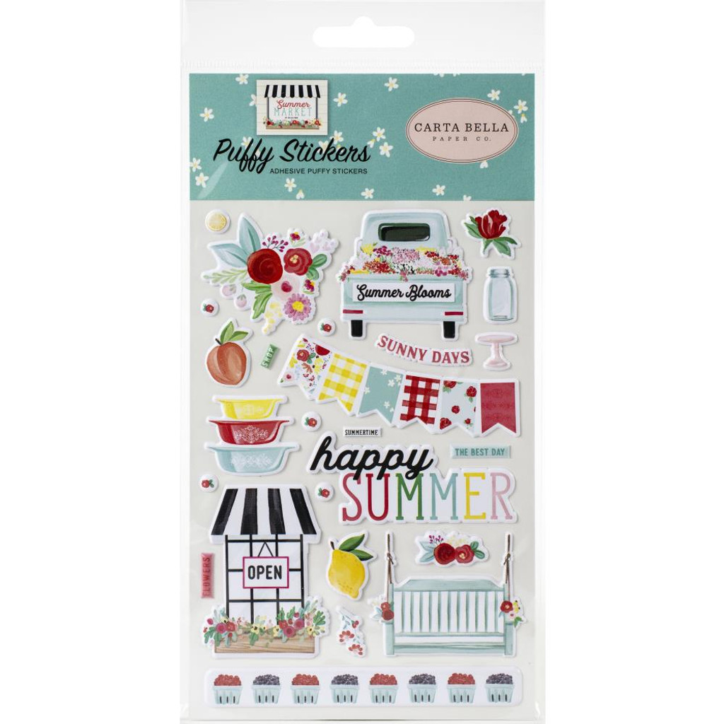 Carta Bella - Puffy Stickers - Summer Market (UM115066)