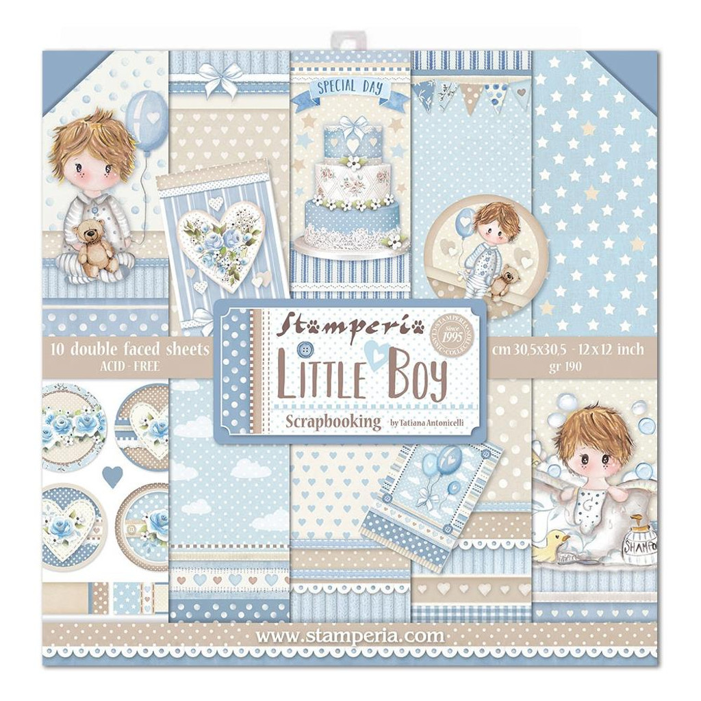 Stamperia - Collection Paper Pad 12 x 12 - Little Boy (SBBL68)