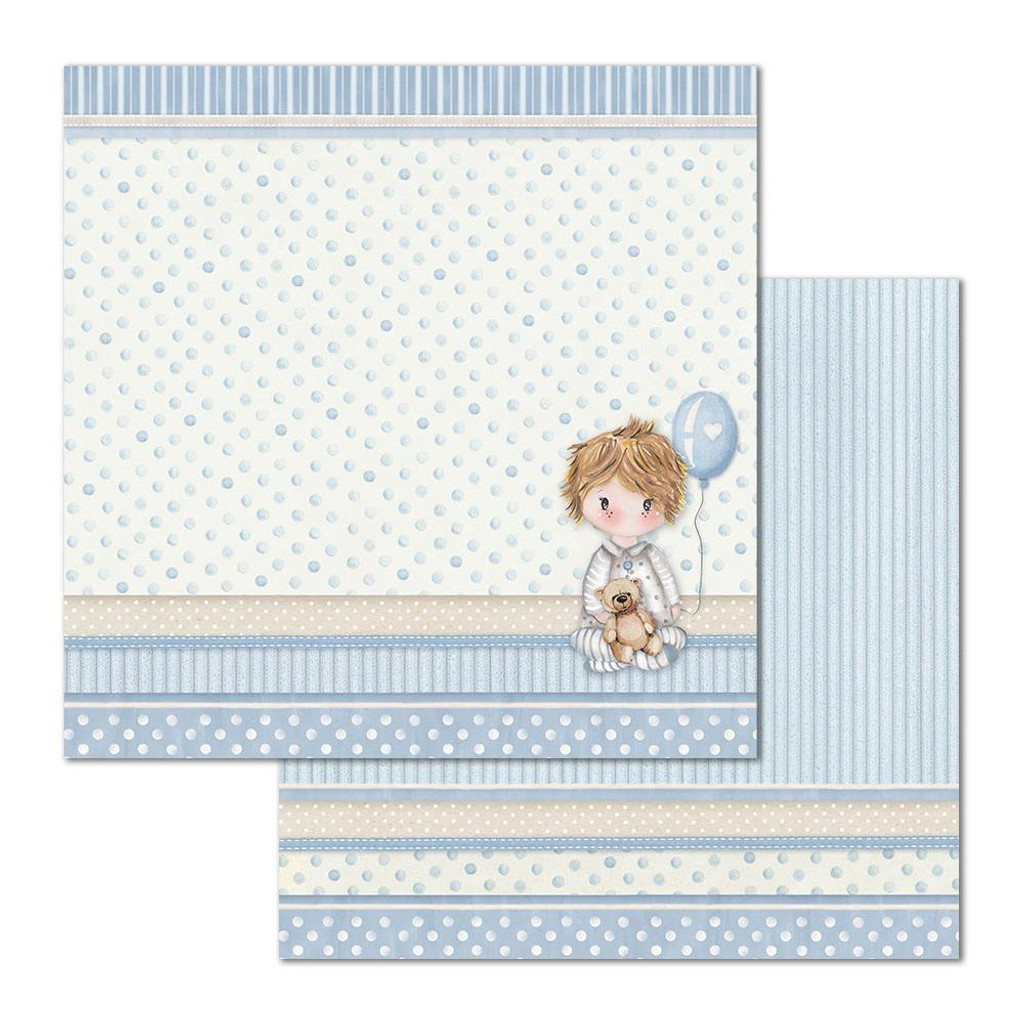 Stamperia - Double Sided Cardstock 12x12 - Little Boy - Balloon (SBB684)
