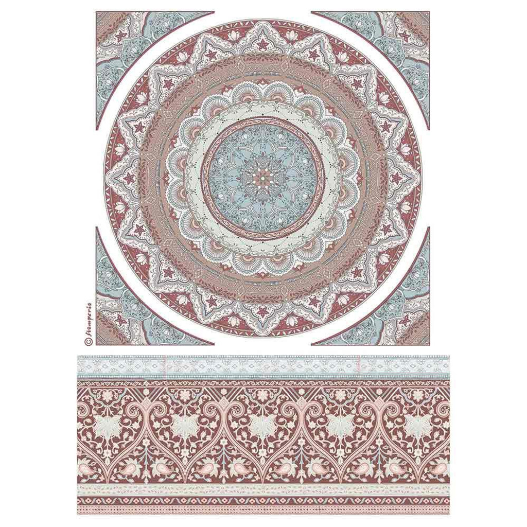 Stamperia - Decoupage Rice Paper Sheet A4- 26 Secrets of India - Mandala Lace (DFSA4463)