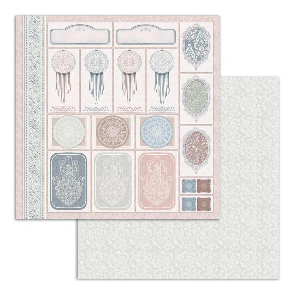 Stamperia - Double Sided Paper Pad 8x8 - 26 Secrets of India (SBBS14)