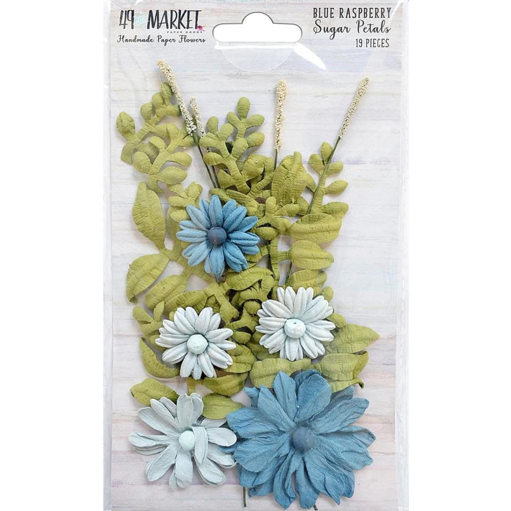 49 and Market - Sugar Petals 19/Pkg - Blue Raspberry (49SPF 32372)