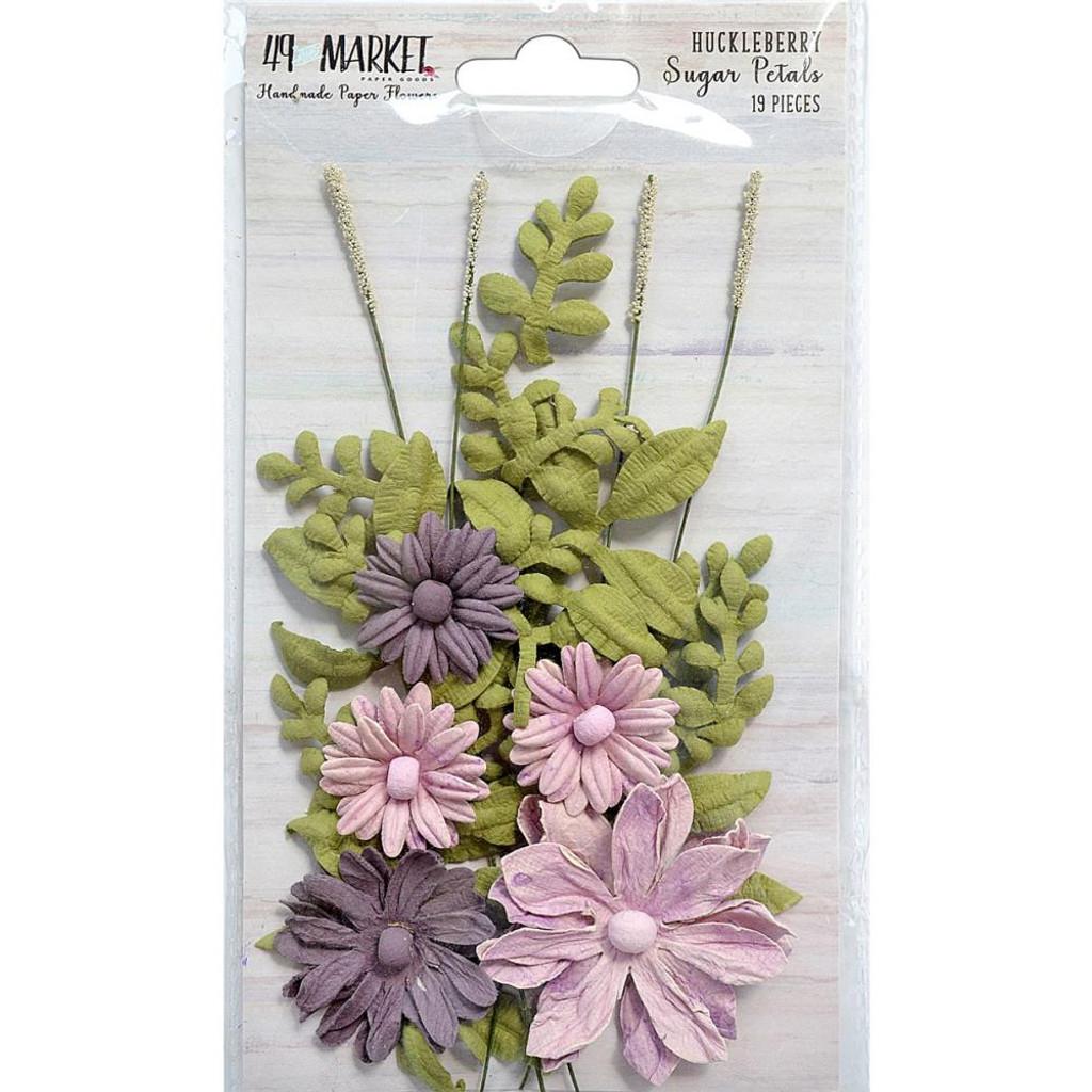 49 and Market - Sugar Petals 19/Pkg - Huckleberry (49SPF 32389)
