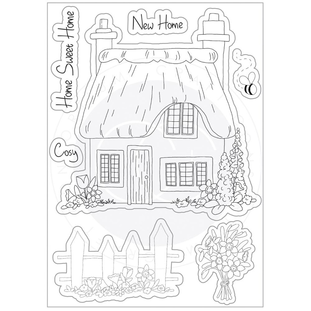 Craft Consortium - Clear Stamp Set A5 - Cottage Garden (CSTMP029)