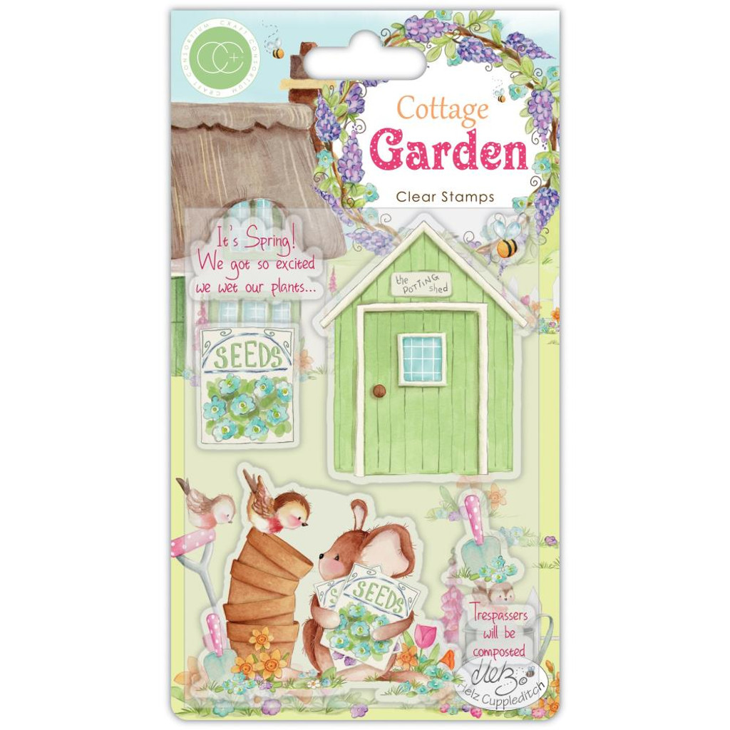 Craft Consortium - Clear Stamp Set A5 - Cottage Garden - Potting Shed (CSTMP030)