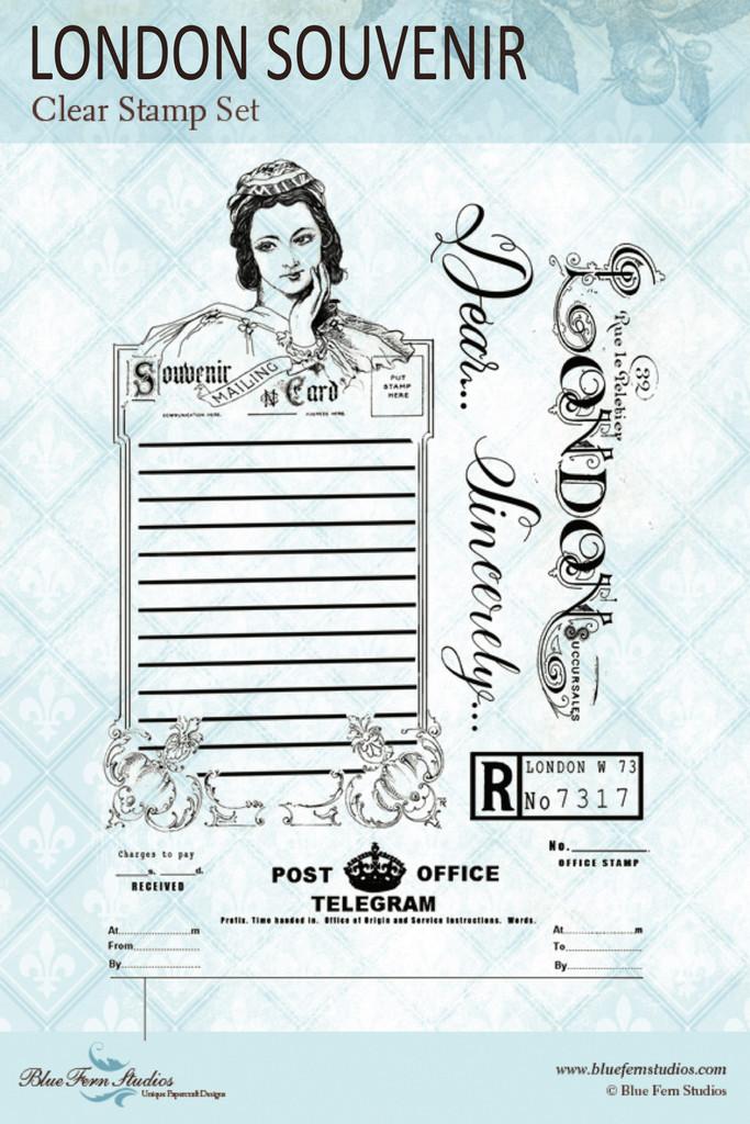 Blue Fern Studios - Clear Stamp - Jane's Memoirs - London Souvenir (144172)