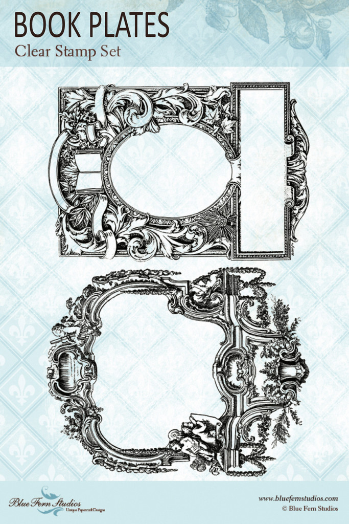 Blue Fern Studios - Clear Stamp - Jane's Memoirs - Book Plates (143878)