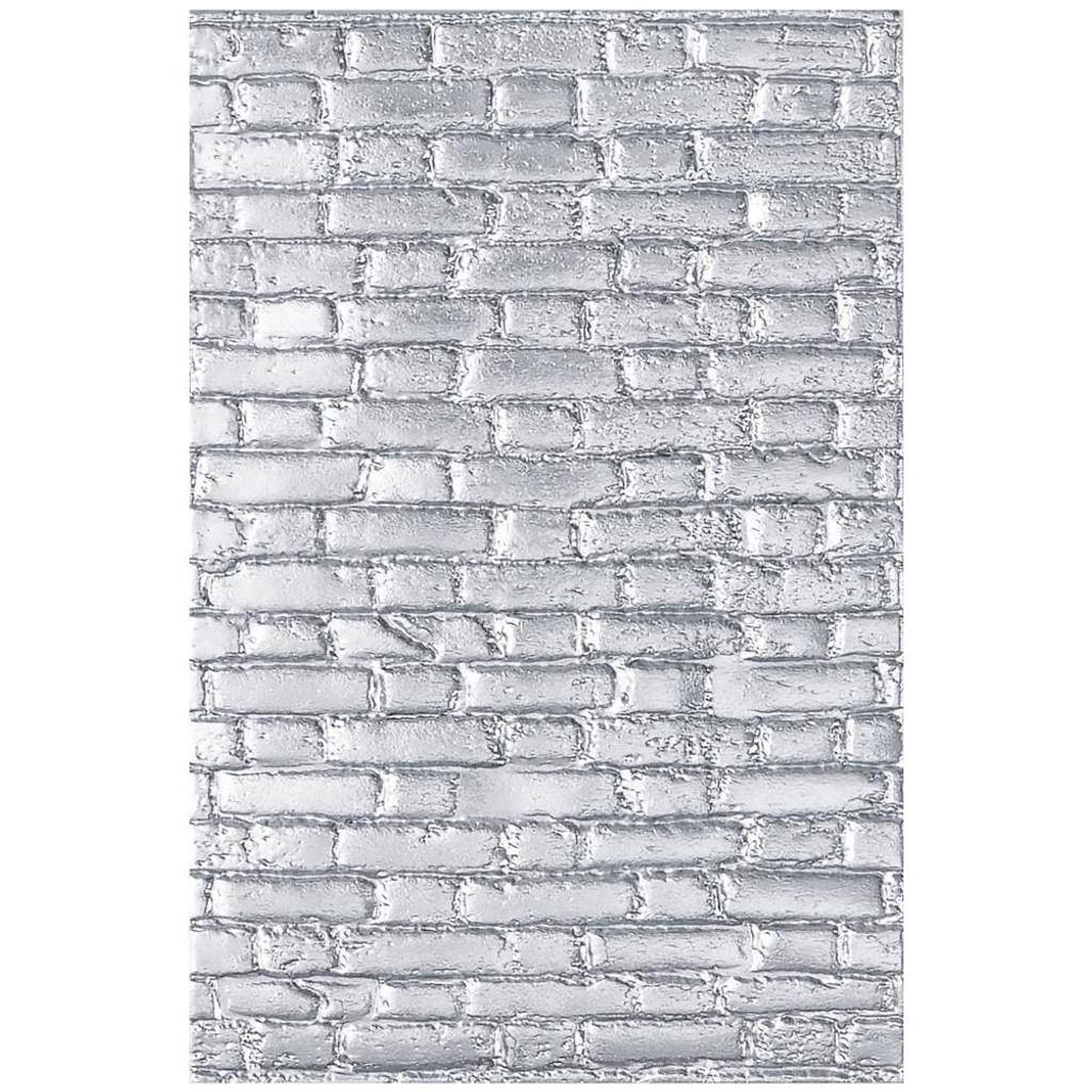 Sizzix - Tim Holtz - 3-D Textured Impressions Embossing Folder - Brickwork (664259)