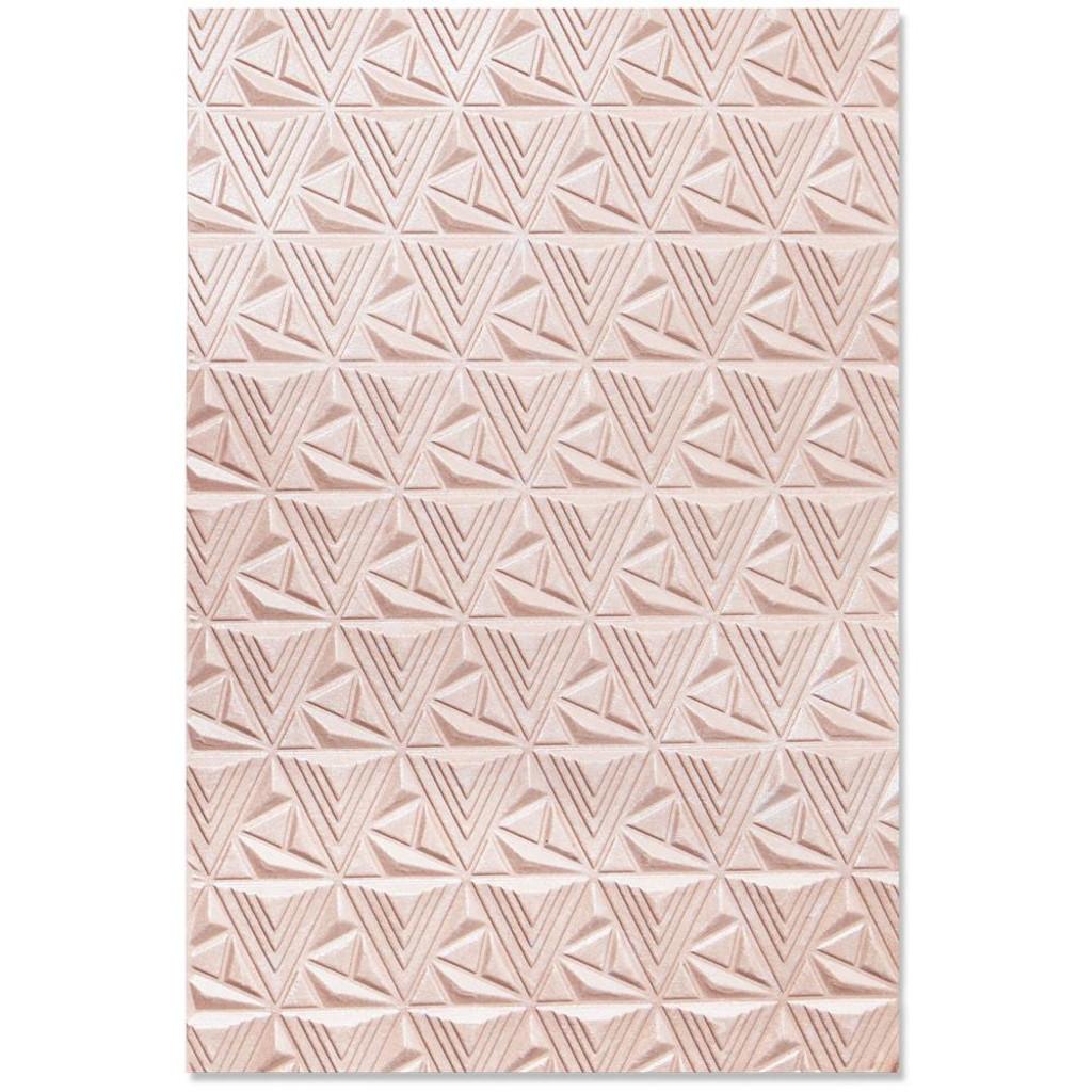 Sizzix - Jessica Scott - 3-D Textured Impressions Embossing Folder - Geometric Lattice (664425)