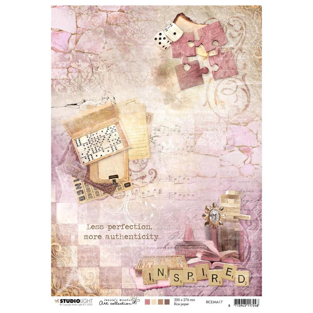 Studio Light Jenine's Mindful Art - Decoupage Rice Paper A4 - NR. 17 (RICEJM17)