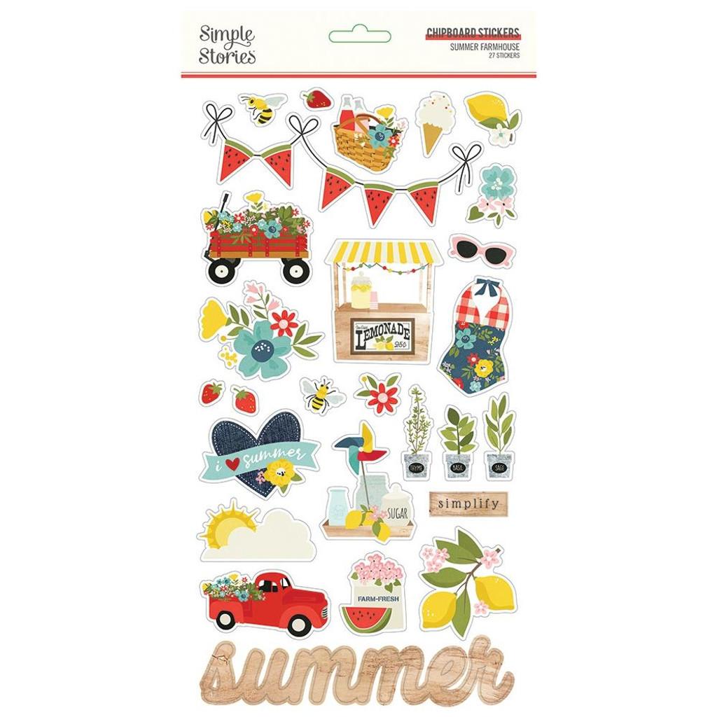Simple Stories - Chipboard Stickers 6x12 - Summer Farmhouse (SFH12615)