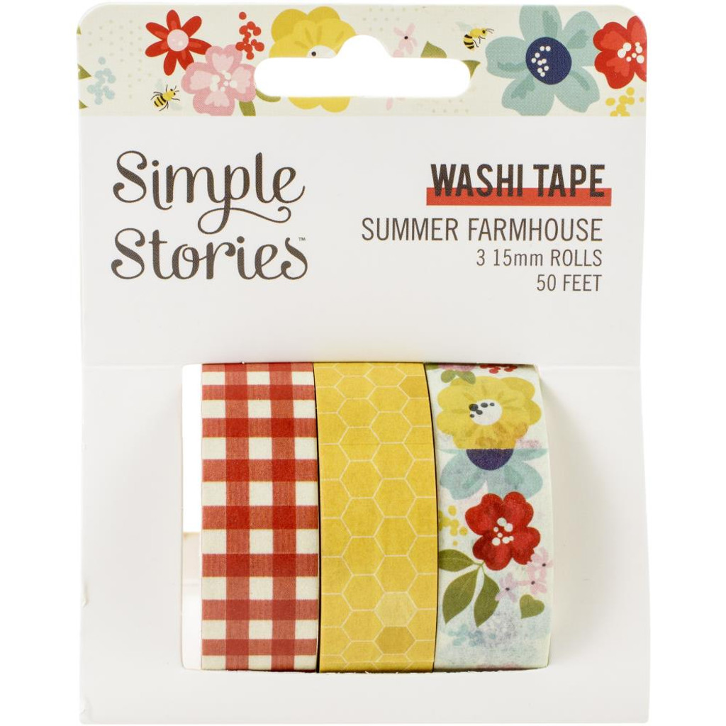 Simple Stories - Washi Tape 3/Pkg - Summer Farmhouse (SFH12621)