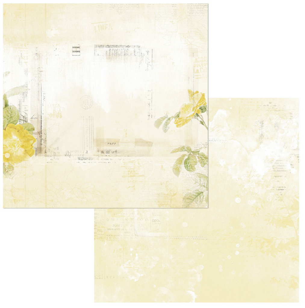 49 and Market - Scrapbooking Paper Pack 6x6 - Vintage Artistry - Butter (VAC32624)