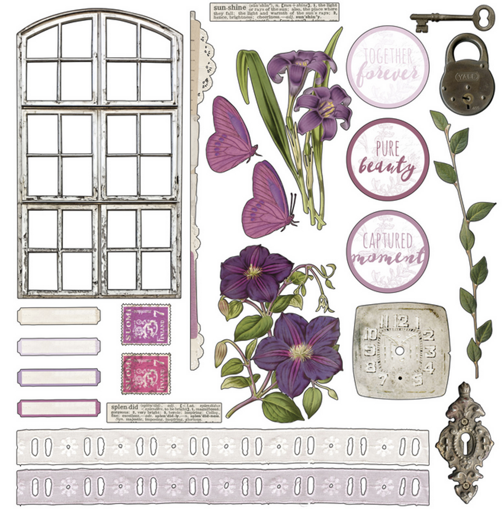 49 and Market - Scrapbooking Paper Pack 6x6 - Vintage Artistry - Lilac (VAC32709)