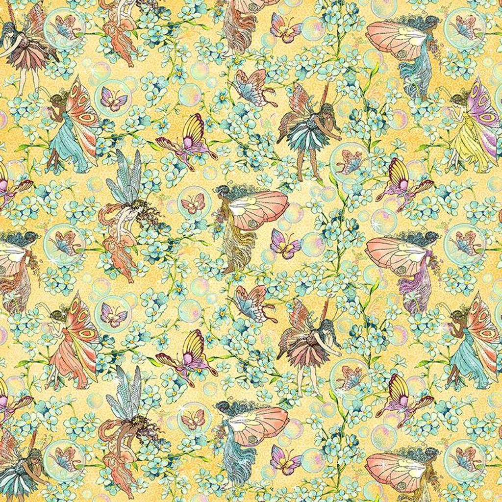 Graphic 45 - Fairie Wings - Double sided 12x12 Paper - Woodland Wishes (FAIR450 2075)