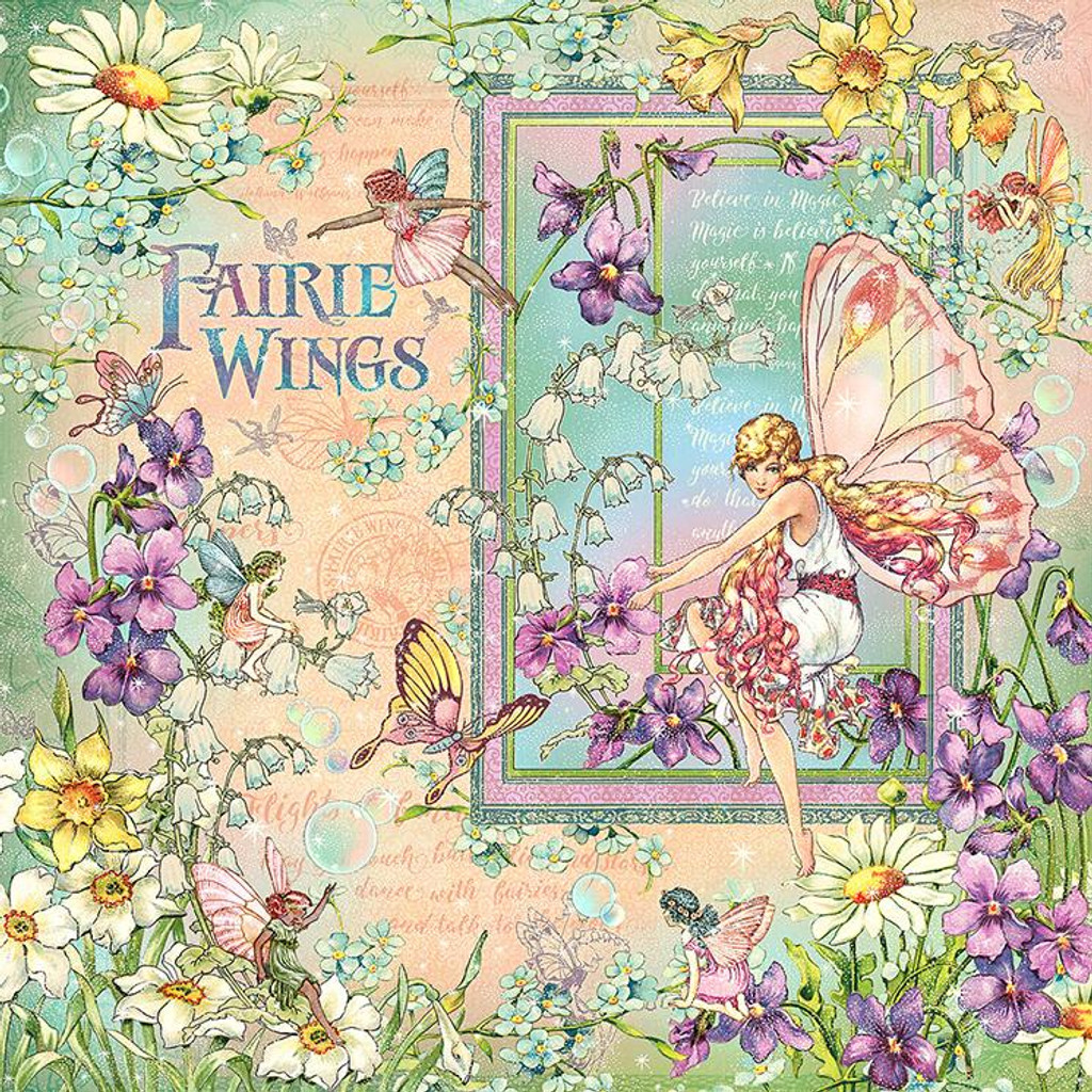 Graphic 45 - Fairie Wings - Double sided 12x12 Paper - Fairie Wings (FAIR450 2074)