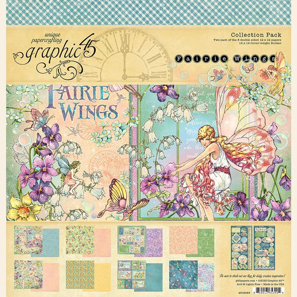 """Graphic 45 - Collection Pack 12""""X12"""" - Fairie Wings (G4502083)"""
