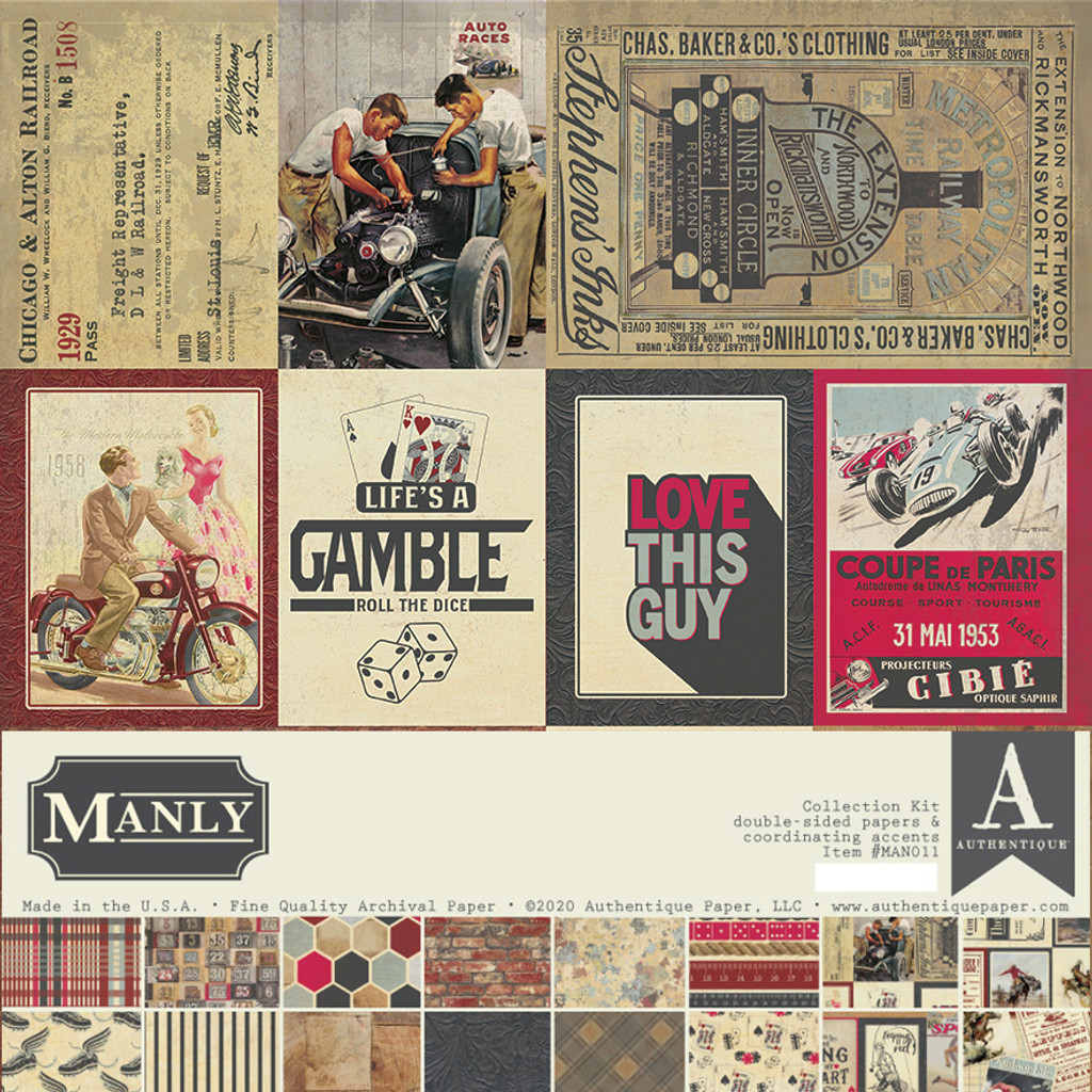 "Authentique - Collection Kit 12""X12"" - Manly (MAN-011 )"