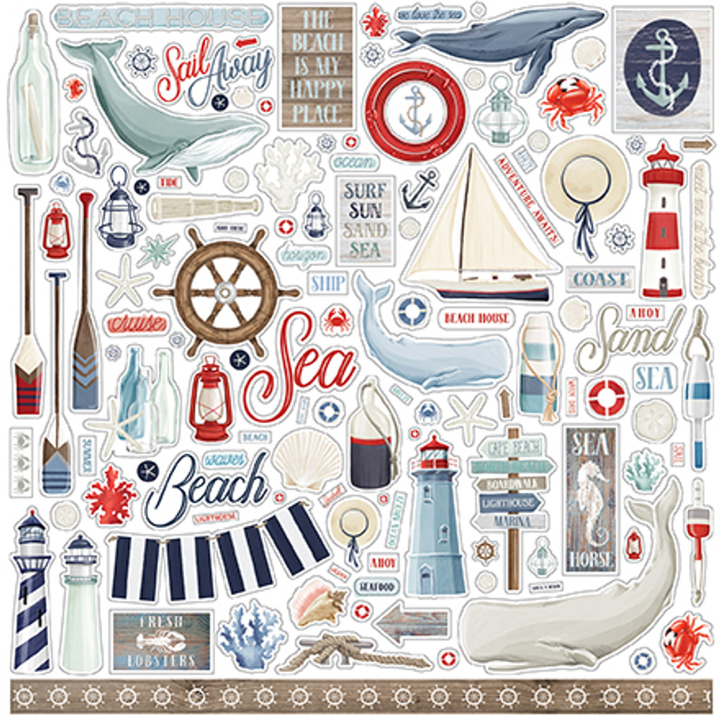 Carta Bella - 12x12 Collection Kit - By The Sea (CBBS120016)