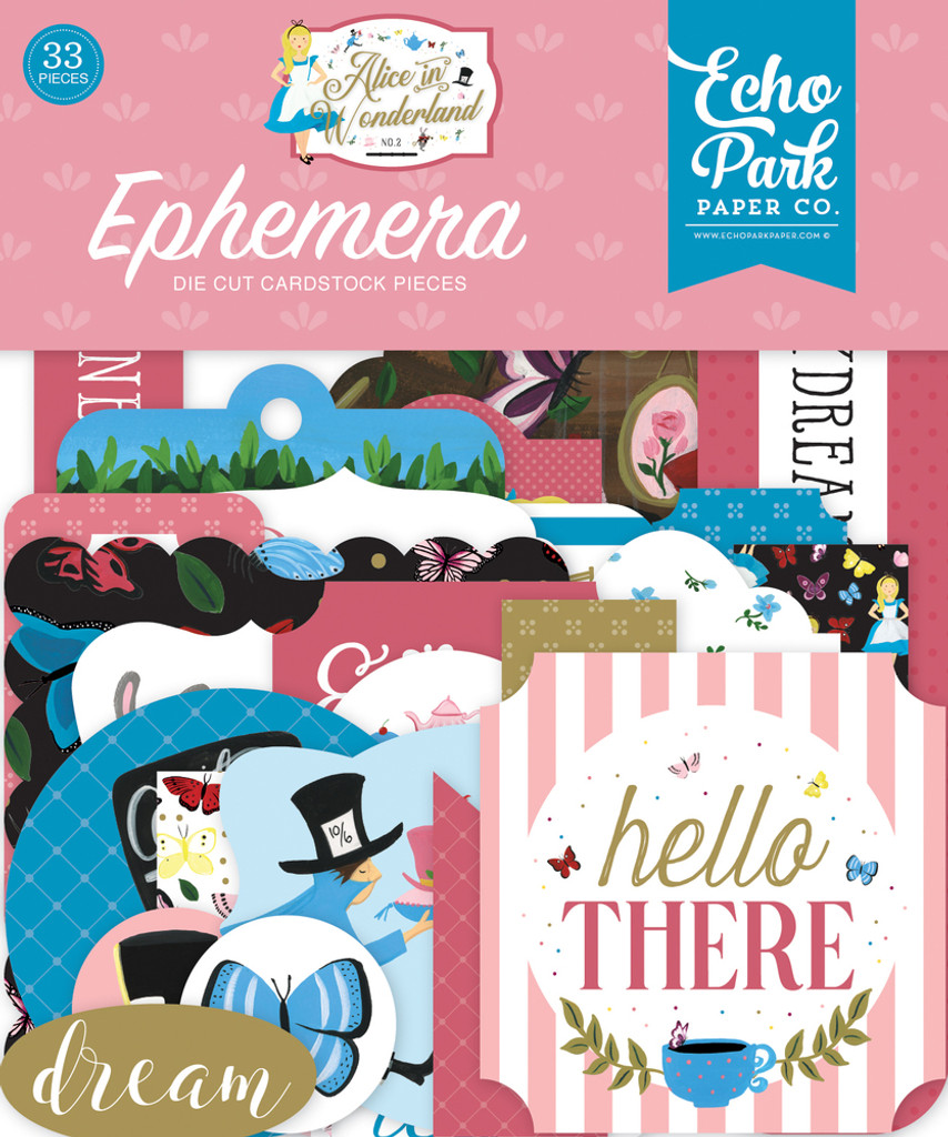 Echo Park - Ephemera Icons 33/pkg - Alice in Wonderland No. 2 (WO214024)