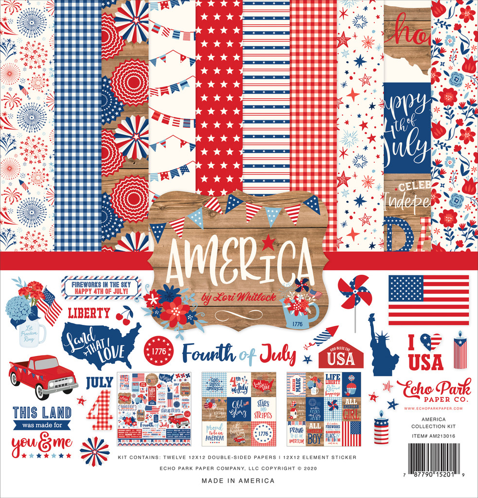 Echo Park - 12x12 Collection Kit - America (AM213016)