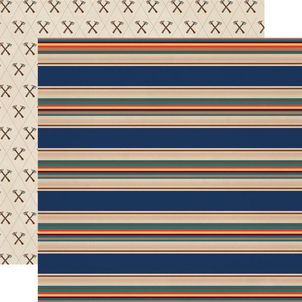 Carta Bella - Summer Camp - 12x12 Cardstock - Summer Stripe (CBSC119006)