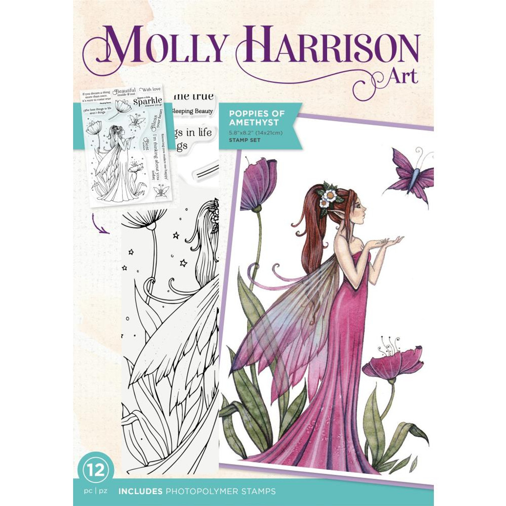 Crafter's Companion - Stamps By Molly Harrison - Poppies Of Amethys (MHPOP)