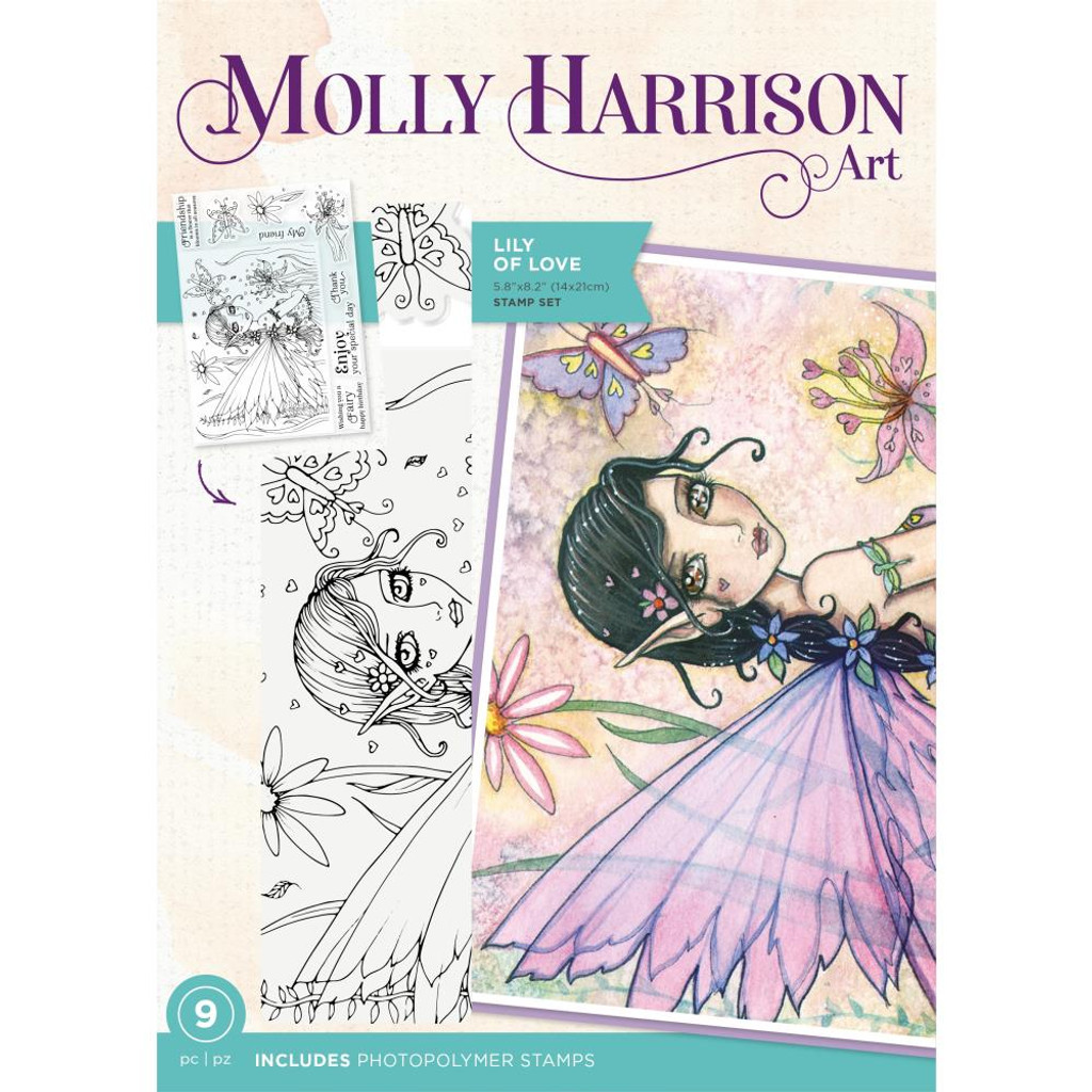Crafter's Companion - Stamps By Molly Harrison - Lily of Love (MHLILYL)