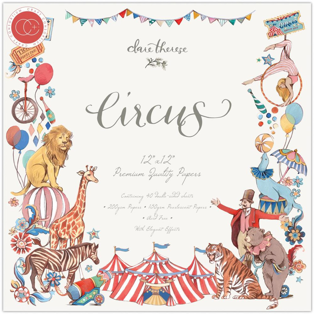 Craft Consortium - Double Sided Paper Pack 12x12 - Circus (PAD017)