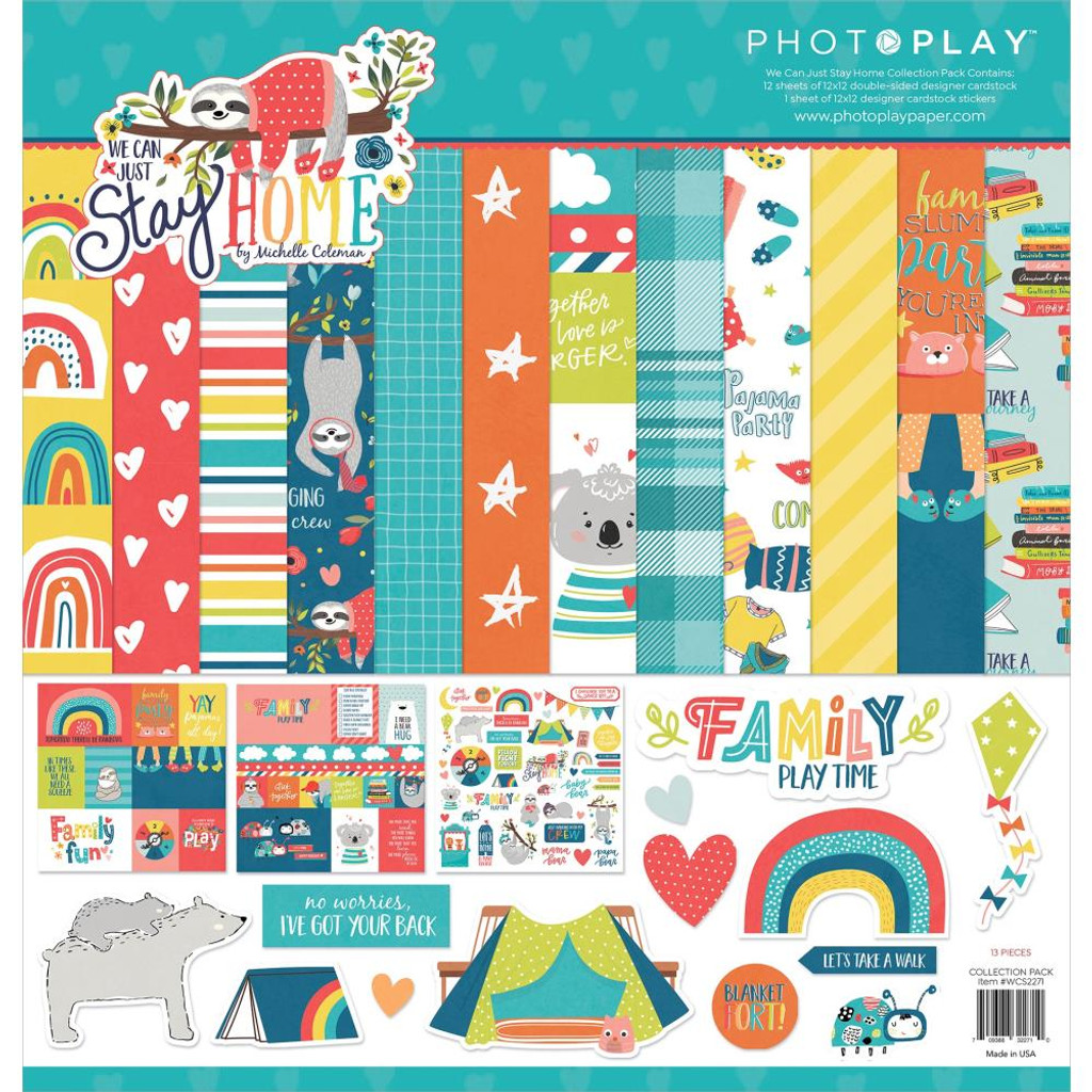 """PhotoPlay - Collection Pack 12""""X12"""" - We Can Just Stay Home (WCS2271)"""