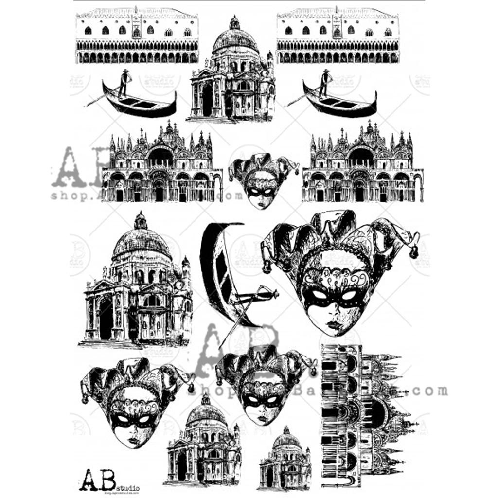 AB Studios - Transparent foil - Venice - 014 (TFoil-014)