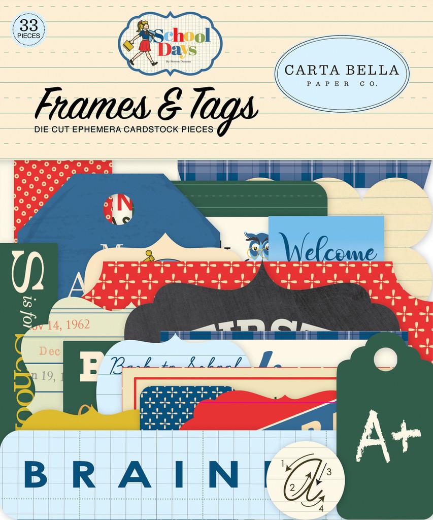 Carta Bella - Frames & Tags 33/Pkg - School Days (DS118025)