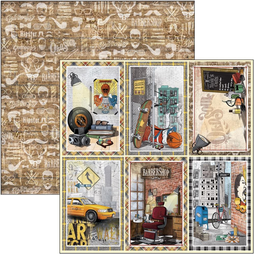Ciao Bella - Double Sided Cardstock 12x12- Hipster - Cards (CBSS113)