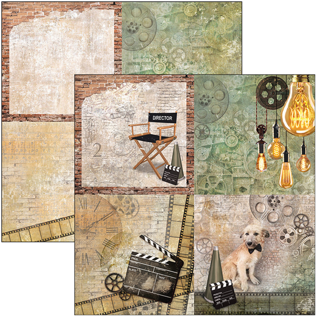 """Ciao Bella - 12""""X12"""" Double-Sided Patterns Pad 7/Pkg - Modern Times (CBT036)"""