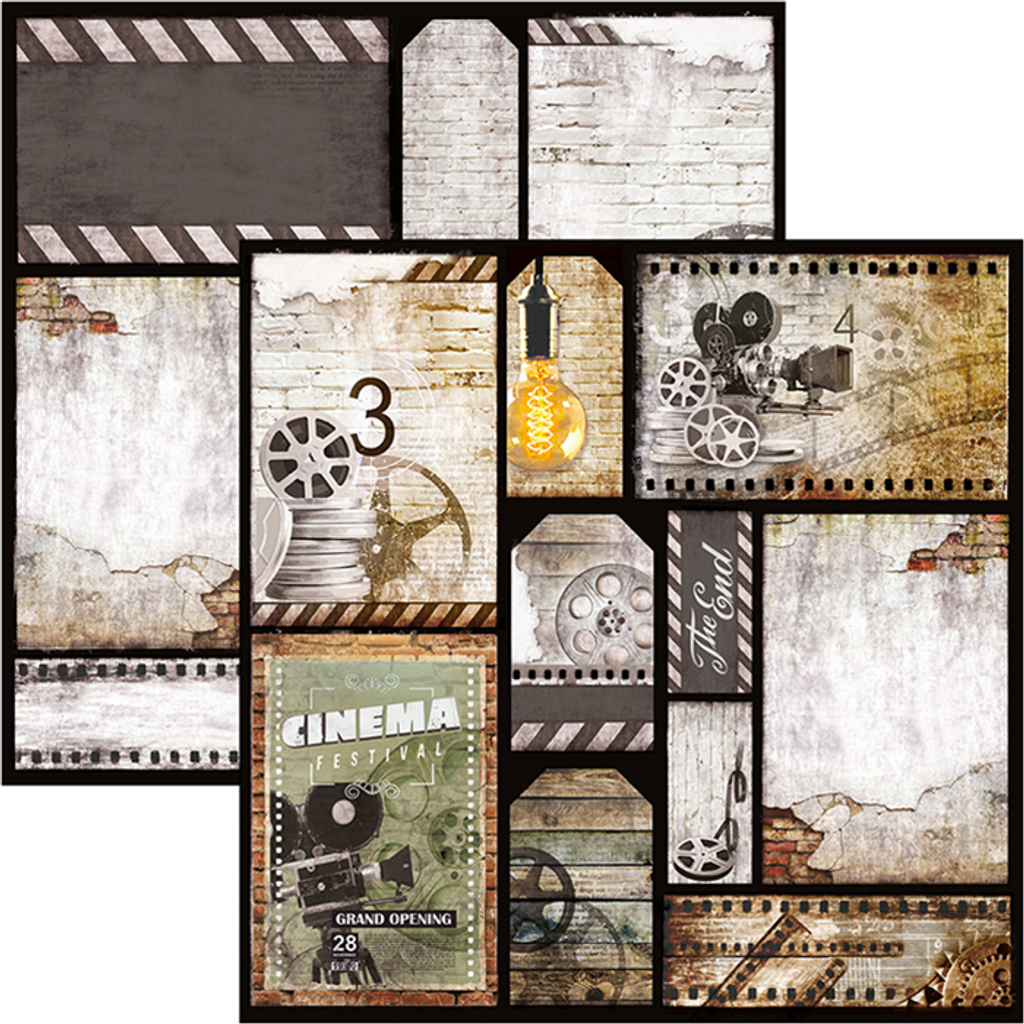 """Ciao Bella - 12""""X12"""" Double-Sided Paper Pack 11/pkg - Modern Times (CBPM036)"""