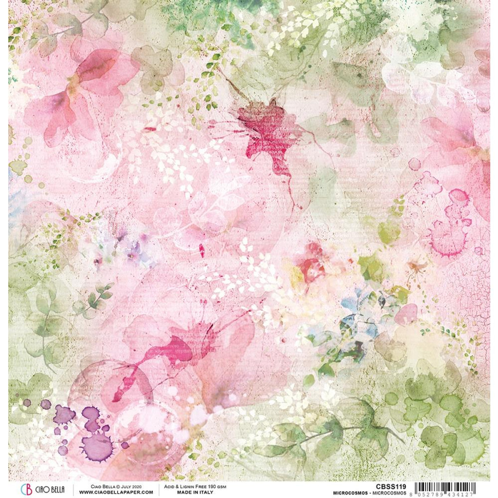 Ciao Bella - Double Sided Paper 12x12 - Microcosmos (CBSS119)