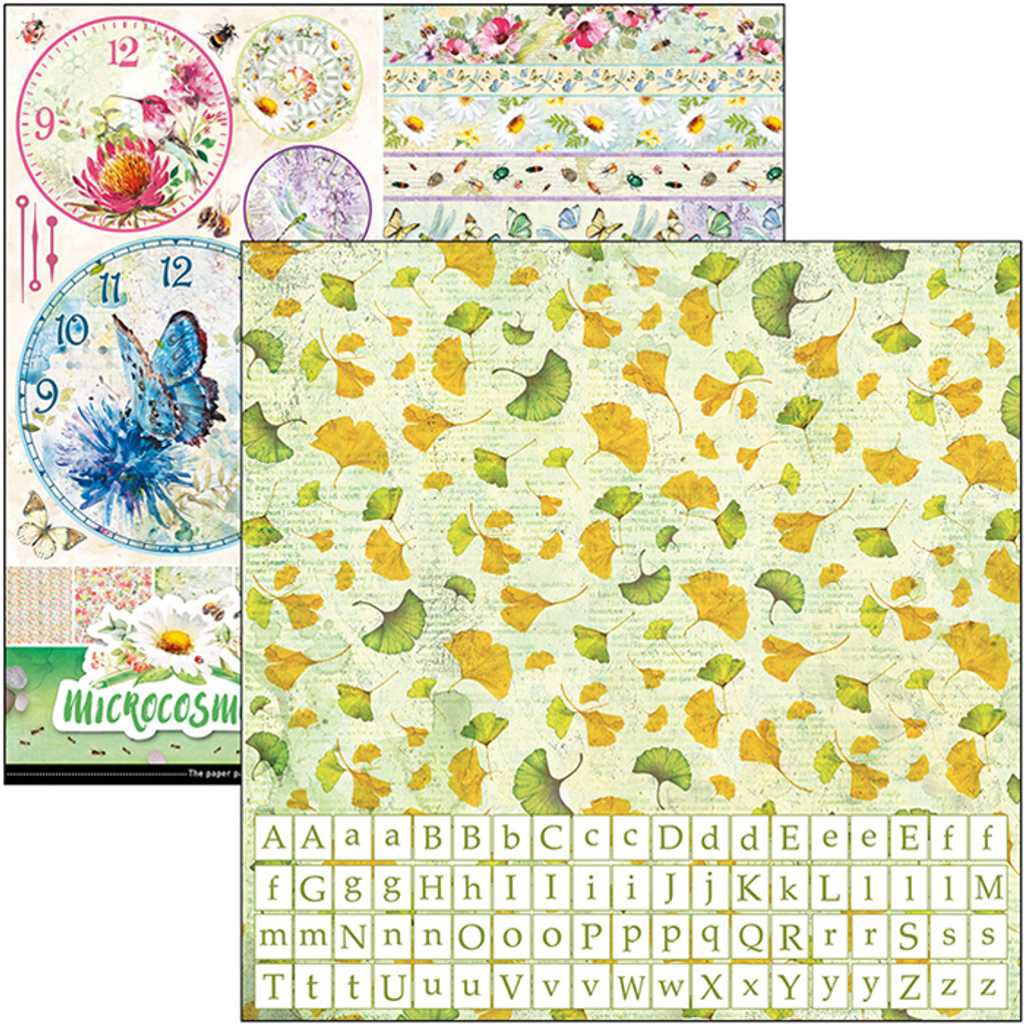 """Ciao Bella - 12""""X12"""" Double-Sided Patterns Pad 7/Pkg - Microcosmos (CBT037)"""