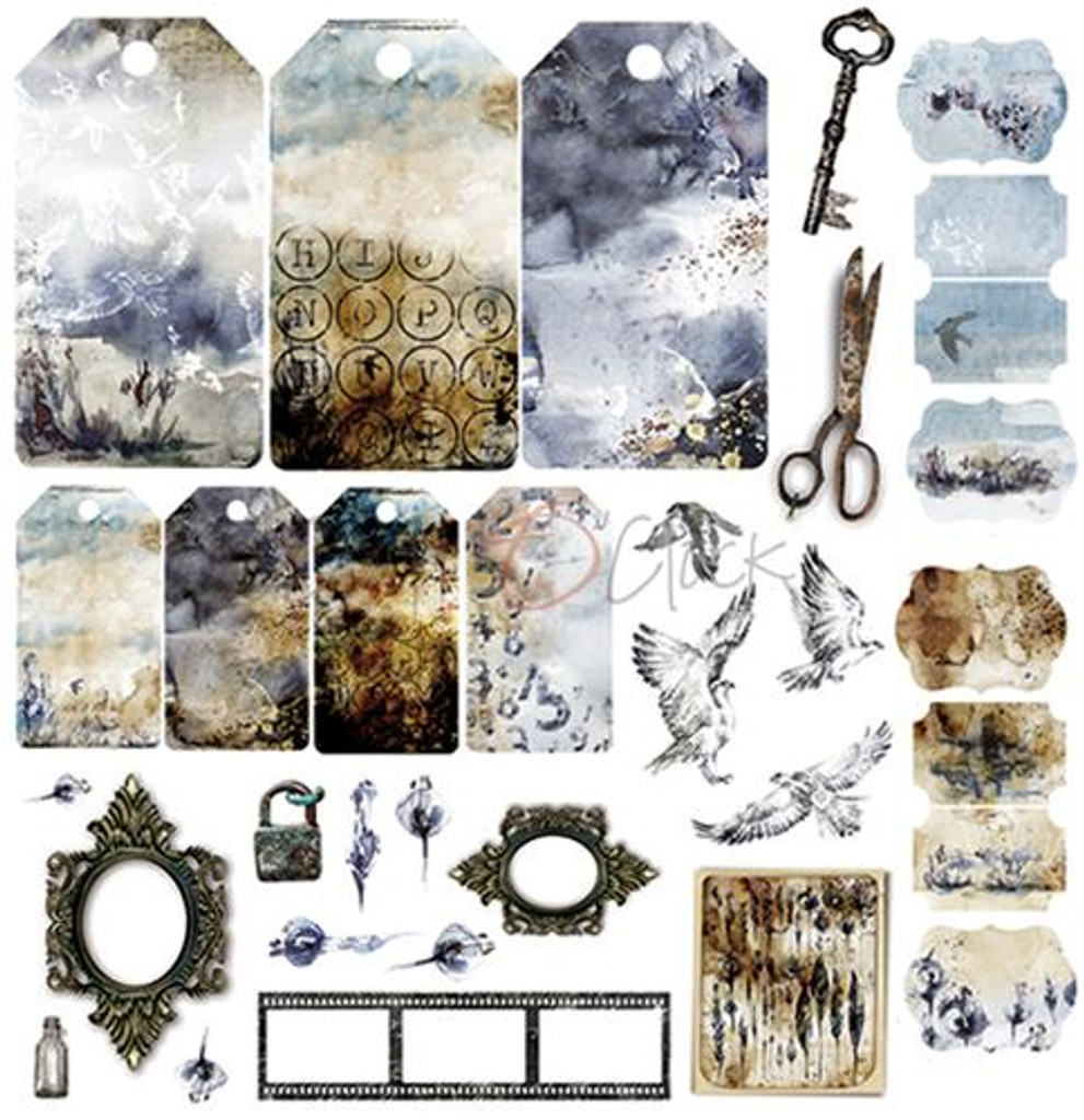 Craft O Clock - Paper Collection Set 6x6 18/Pkg - Beauty Restless (CC-ZM-BR-MM04)