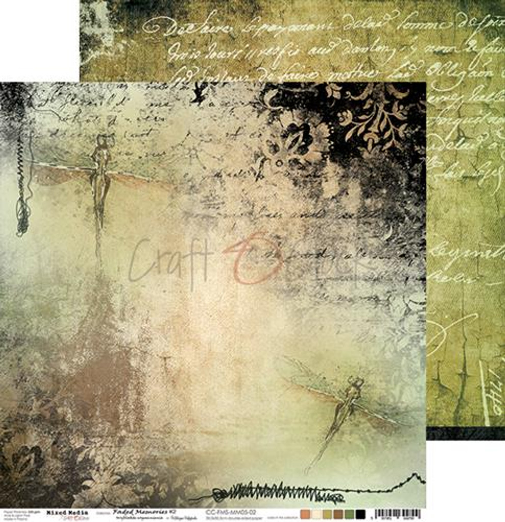 Craft O'Clock -Paper Collection Set 12x12 - Faded Memories (CC-ZD-FMS-MM05)